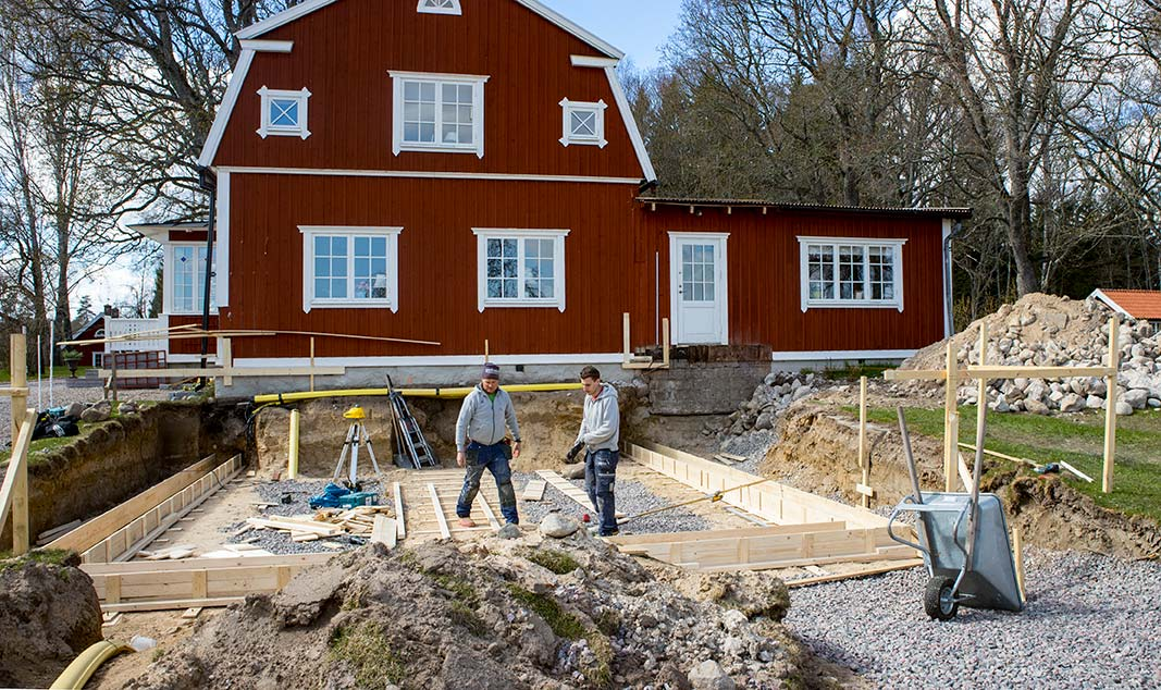 Tillbyggnad villa byggfirma